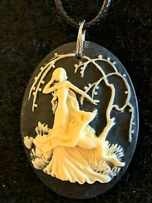 ARTEMIS CAMEO Necklace Resin Hand Made (large) Goddess Hunter Hunt Diana Deer