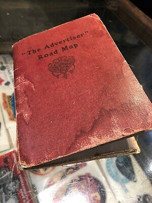 The Advertiser Road Map Adelaide & Surrounds On Linen Vintage