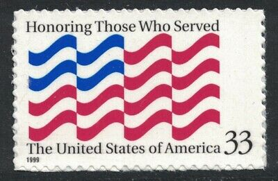 Scott 3331- Honoring Those Who Served- MNH (S/A) 33c 1999- unused mint stamp