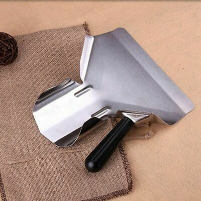 Duty Stainless Steel Catering Chip French Fry Bagger Scoop Right Handle Heavy
