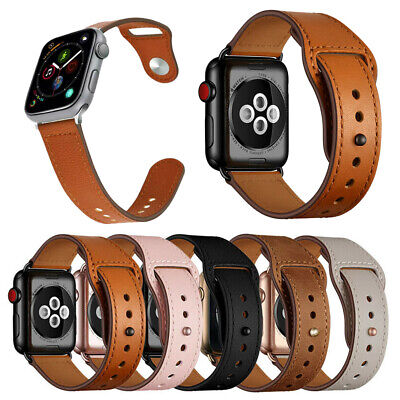 【Genuine Leather】 Strap Apple Watch Band iWatch Series 5 4 3 2 1 / 38 40 42 44mm