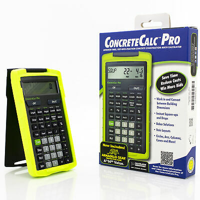 Calculated Industries ConcreteCalc Pro Advanced Yard Feet Inch Calculator 4225