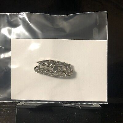 Disney Parks Pin | Hidden Mickey Friendship Boat Silver Chaser | Pre-Owned