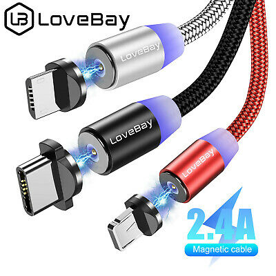 LoveBaby Magnetic Lightning Cable/Micro USB/Type C Charging For iphone Android