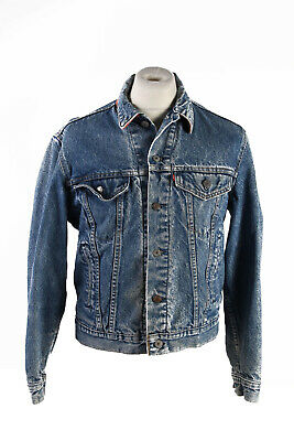 Vintage Levis Denim Jacket Blanket Lined  Western Riders XS Denim - DJ1522