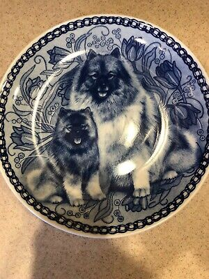 Preowned Keeshond - Dog Plate made in Denmark from the finest European Porcelain