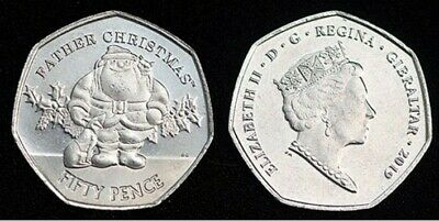 2019 Gibraltar Father Christmas 50P Coin Unc