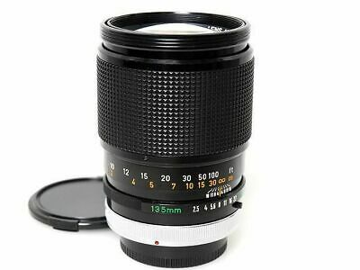 Canon FD 135mm F2.5 S.C. MF Telephoto Prime Lens Excellent from Japan F/S