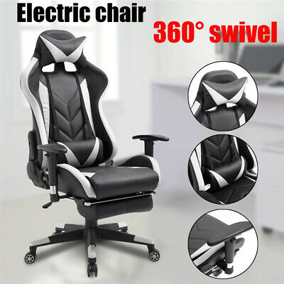 Executive Office Chair Comfortable Adjustable Gaming Lumbar Neck Cushion B