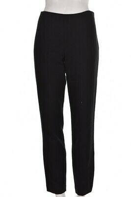 Adrianna Papell Pants Size 6 Solid Black Straight Leg Career Dress Trousers
