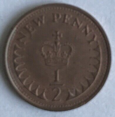 Rare 1971 Decimal 1/2 Half Penny New Penny Coin Circulated Elizabeth II