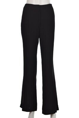 Theory Womens Pants Size 8 Solid Black Flare Wool Career Dress Slacks