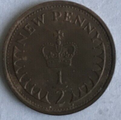 Rare 1976 Decimal 1/2 Half Penny New Penny Coin Circulated Elizabeth II