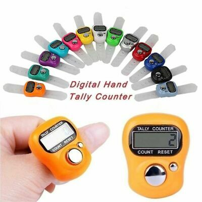 Color Electronic Tally Counter LCD Display Finger Hand Ring Row/Stitch Marker