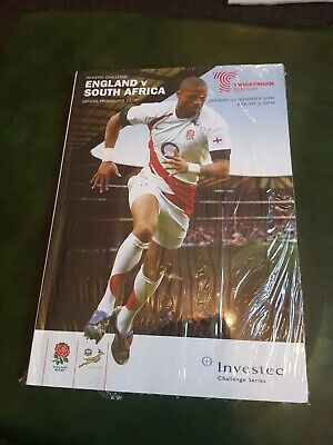 ENGLAND v SOUTH AFRICA 2008 TWICKENHAM . RUGBY PROGRAMME EXC CONDITION