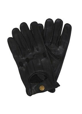 Retro Real Leather Men's Driving Fashion Gloves Unlined Chauffeur Gloves