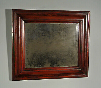 Queen Anne Fruitwood Framed Cushion Mirror with Original Plate c. 1710