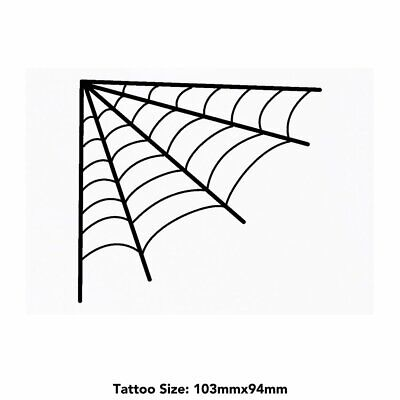 Large 'Spider Web' Temporary Tattoo (TO00016573)