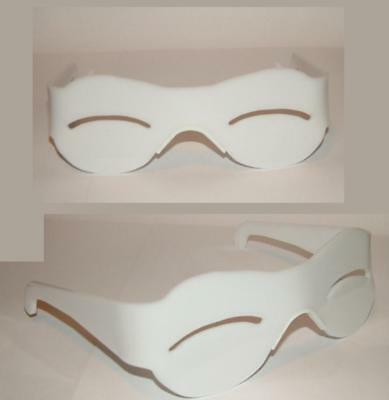 White thin eye slit inuit snow blind cosplay costume visor.