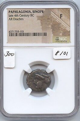 Ancient Sinope Paphlagonia late 4th Century BC Drachm (#101) NGC Fine.