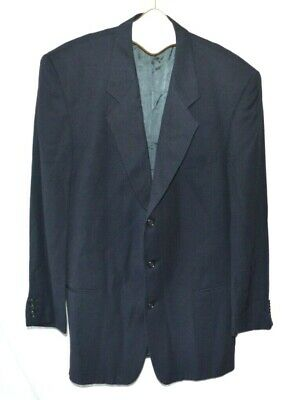 Saks Fifth Avenue Giorgio Armani LE Collection Navy Blue Wool Blend Size 42L