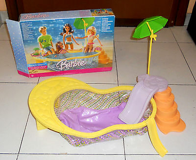 BARBIE BEACH GLAM Piscina Pool OTTIMO Mattel 2006 art K8389