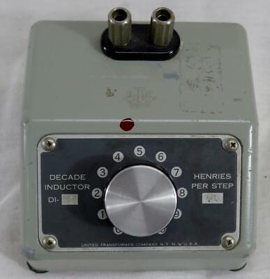 United Transformer Company Decade Inductor Di-1 0.01H Step