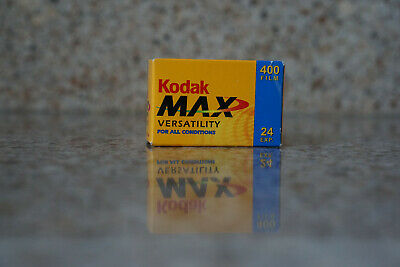 Kodak Max Versatility 400 Film 24 Exposures 35mm Color Film Expired 2005