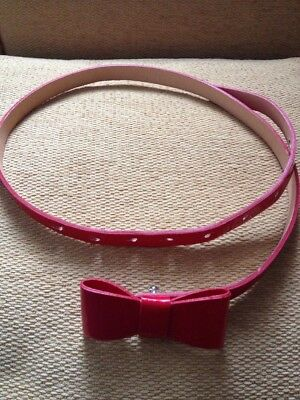 Used red belt with Bow,Girl 5/9 Years