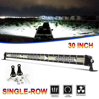 """30""""inch 780W CREE LED Light Bar Tri-row Combo Offroad For Jeep Driving Truck 32"""""""