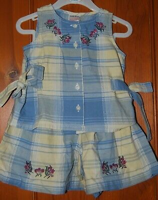 Next, Baby Girl, Retro, Summer, Party, Outfit, Shorts, Top, Vest, 2 years
