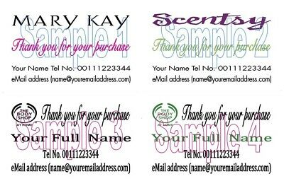 Body Shop at Home Mary Kay Scentsy Thank You Cards 50 Personalised Printed z