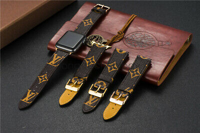 Apple Watch Bands LV Genuine Leather iWatch Strap 38/40/42/44mm Series 3/4/5