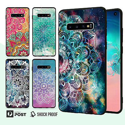 Mandala Slim Bumper Case Cover For Samsung Galaxy S10 e 9 8 Edge Plus Note 001