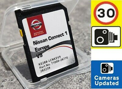 Nissan Connect 1 V9 2019/2020 Latest Sat Nav Map Lcn1 Sd Card