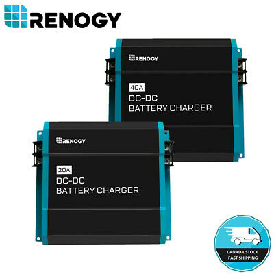 Renogy 12V DC to DC Dual Battery Charger RV Caravan 20A 40A Auxiliary Maintainer