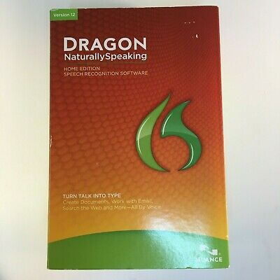 Dragon Naturally Speaking Home Edition Version 12 Nuance Turn Talk into Type