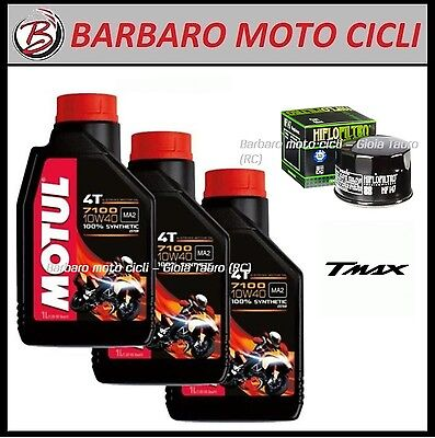 Oil Replacemenet Kit Motul 7100 10W40 + Filter Yamaha T-Max from 2001 a 2007