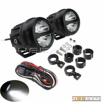 Universal Motorcycle Spotlight Adjustable LED Auxiliary Fog Lights For Honda BMW