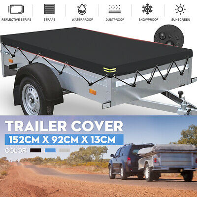 5 x 3 ft Heavy Duty Trailer Cover Snow Dust Oxford Cloth Waterproof Feet 5ft 3ft