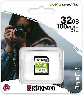 Kingston 32GB 32 GB SD SDHC SDXC Flash Card Class 10 UHS-I U1 100MB/s