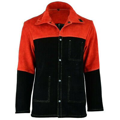 High Quality Cowhide Split Leather Welding Jacket, Welders Leather Safety Jacket