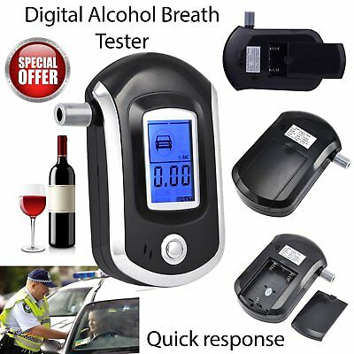 Digital Alcohol Portable Breathalyser Breath Tester Blue LCD Breathtester hM