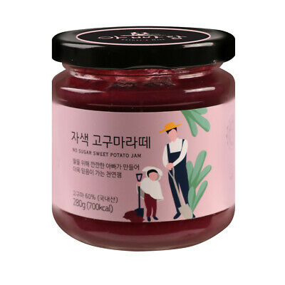 Korean Sugar free Purple Sweet Potato Jam Preserve grain syrup Spread 자색고구마라떼잼
