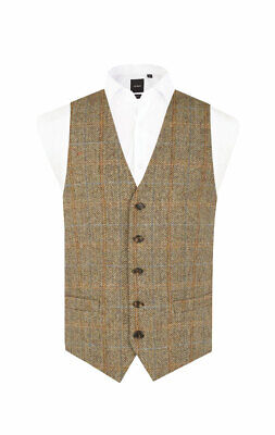 HARRIS TWEED BY Dobell Weste, Braun, Karomuster EUR 129,99