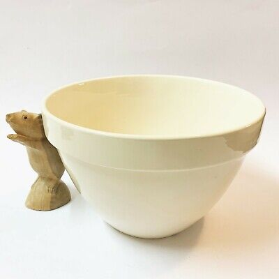 T G Green Cream Stoneware Large Pudding Basin / Mixing Bowl, H15 x W21cm English