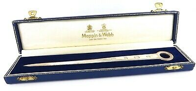 Mappin & Webb Solid Sterling Silver Letter Opener Paper Knife Hallmarked 1983