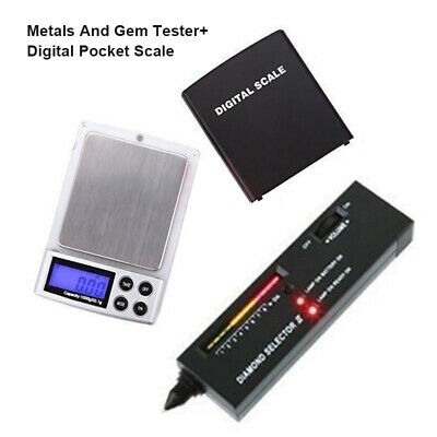 Digital Pocket Scale HDE Diamond Test Kit Precious Metals And Gem Tester