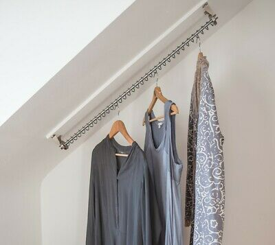 Zebedee Any Angle - 900 mm Original Hanging Clothes Rail For Sloping Ceilings