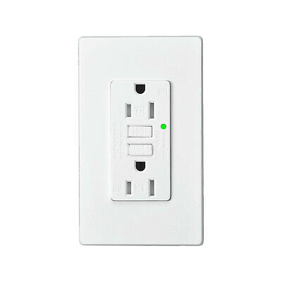 15AMP GFCI Outlet Receptacle Tamper Resistant - ETL Listed, White GFI TR WR GFCI